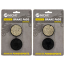 Brake Pad Set for Yamaha Venture SRV Phazer Exciter 89J-25811-00-00 89J-25911-00-00 NICHE MK1002882
