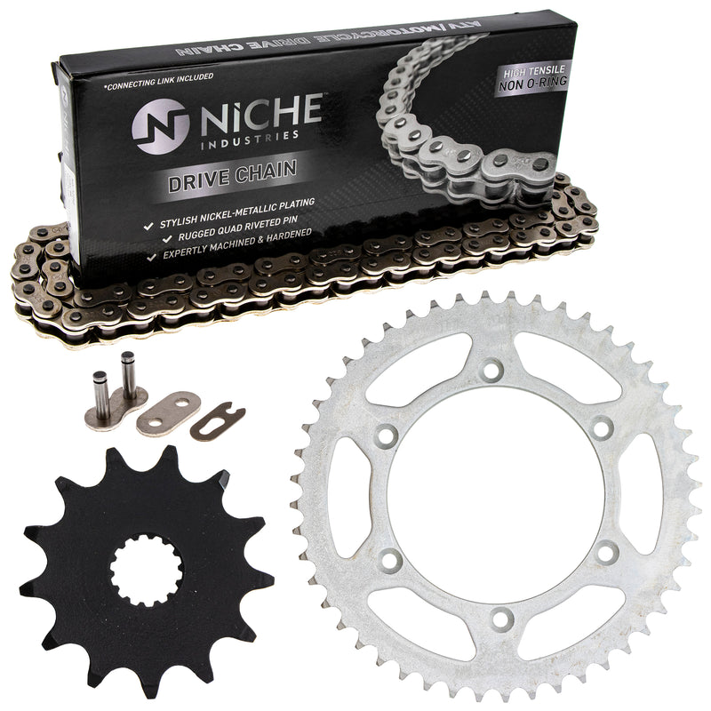 Drive Chain and Sprocket Kit for Yamaha YZ125 9383A-13031-00 1C3-25448-00-00 NICHE MK1003547