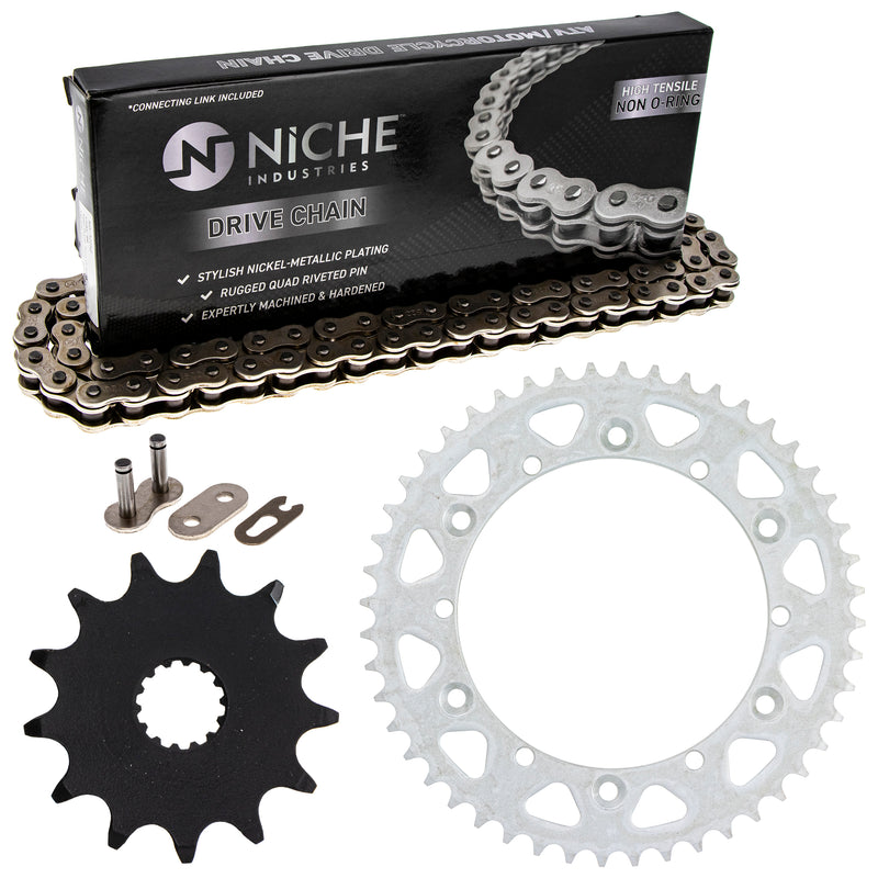 Drive Chain and Sprocket Kit for Yamaha YZ125 9383A-13031-00 9Y582-36111-00 9Y582-28111-00 NICHE MK1003549