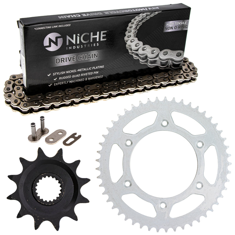 Drive Chain and Sprocket Kit for zOTHER Honda CR125R 41204-ML3-505 41202-KA3-730 NICHE MK1003554