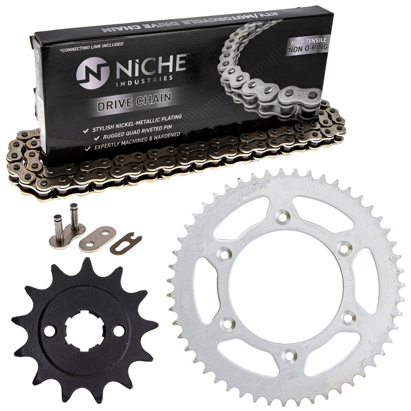 Drive Chain and Sprocket Kit for zOTHER Honda CR125R 23803-KA3-710 41204-MKE-A10 NICHE MK1003555