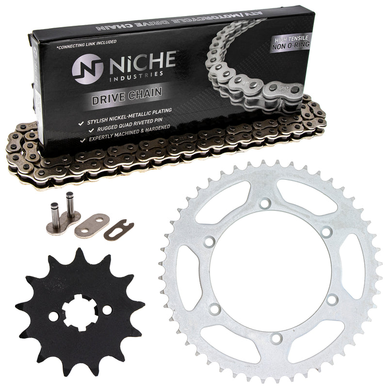 Drive Chain and Sprocket Kit for Kawasaki KDX200 92057-0129 42041-1448 92057-0174 NICHE MK1003559