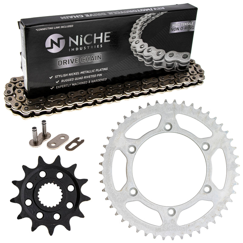 Drive Chain and Sprocket Kit for Yamaha YZ250F YZ125 9383B-13218-00 1C3-25448-00-00 NICHE MK1003560