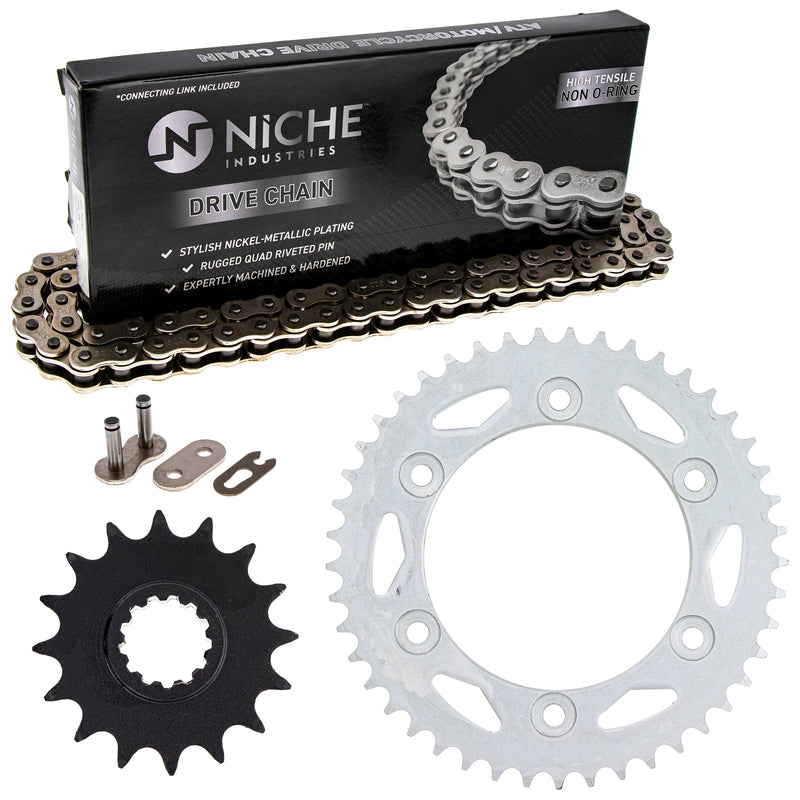 Drive Chain and Sprocket Kit for 92057-0129 92057-S018 92057-0647 92057-0191 92057-0174 NICHE MK1003580