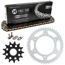 Drive Chain and Sprocket Kit for Kawasaki RR 92057-0192 92057-0740 92057-0710 92057-0695 NICHE MK1003595