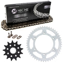 Drive Chain and Sprocket Kit for Suzuki RM250 27511-37F00 64511-37E00 64511-14D60 NICHE MK1003619