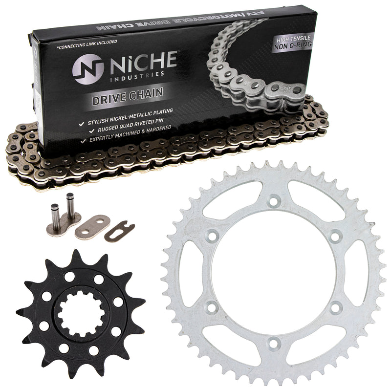 Drive Chain and Sprocket Kit for Suzuki Honda WR250 64511-41521 41201-MKE-A70 NICHE MK1003629