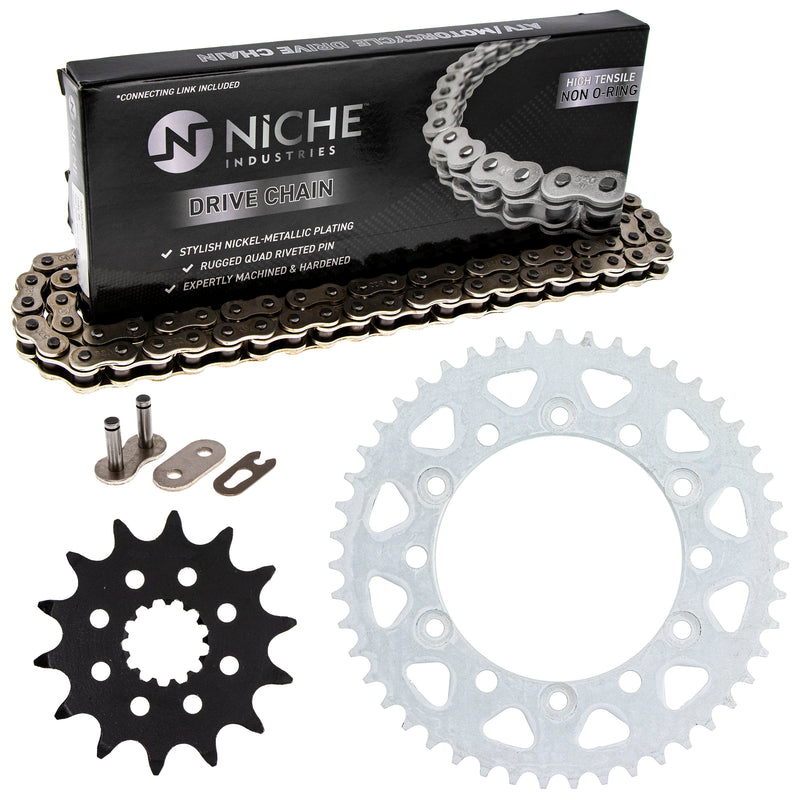 Drive Chain and Sprocket Kit for Yamaha 9Y581-38109-00 94561-62110-00 4JH-25447-00-00 NICHE MK1003641
