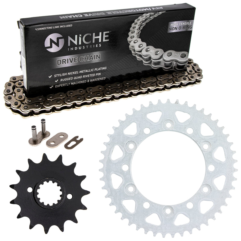 Drive Chain and Sprocket Kit for zOTHER Yamaha Honda 4JH-25447-00-00 40530-MN1-682 NICHE MK1003663