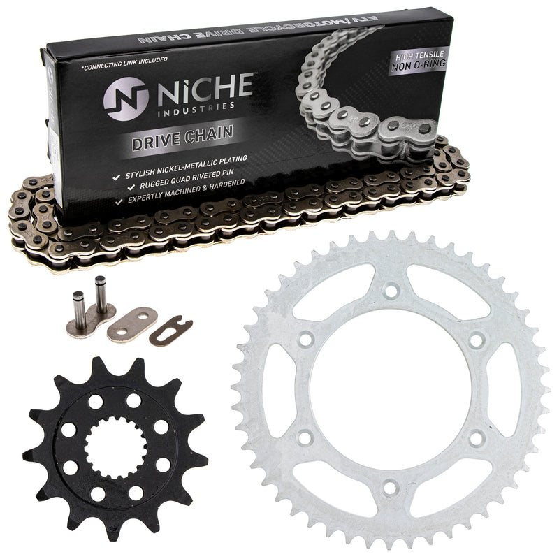 Drive Chain and Sprocket Kit for zOTHER Honda CRF450RX CRF450R CR250R 23802-MEN-730 NICHE MK1003676