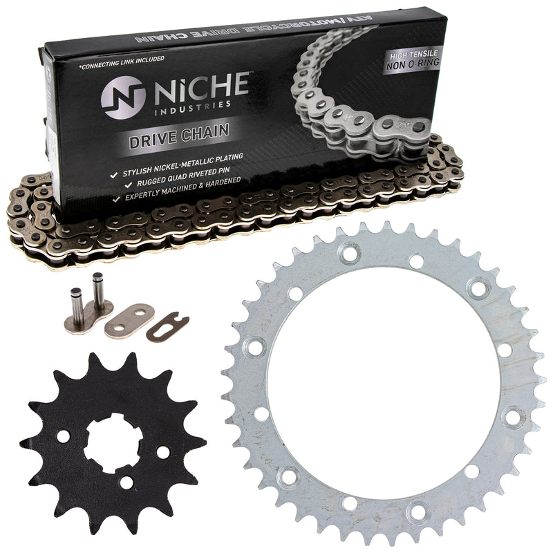 Drive Chain and Sprocket Kit for Yamaha Kawasaki Banshee 9Y581-87103-00 93834-14050-00 NICHE MK1003691