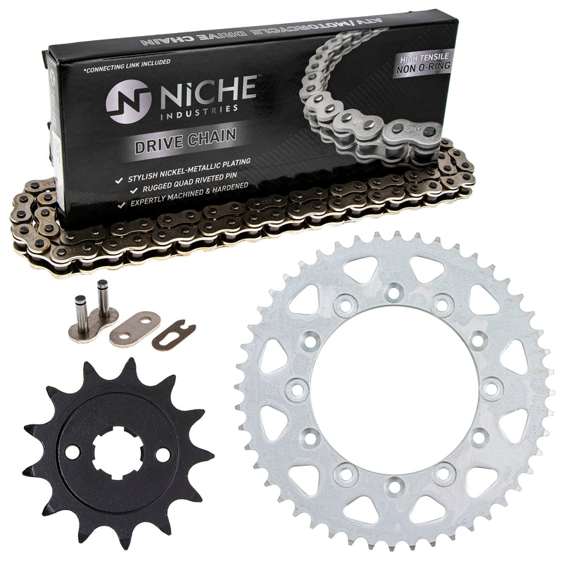 Drive Chain and Sprocket Kit for zOTHER Honda XR200R 41201-MG3-505 40530-KYJ-902 NICHE MK1003708