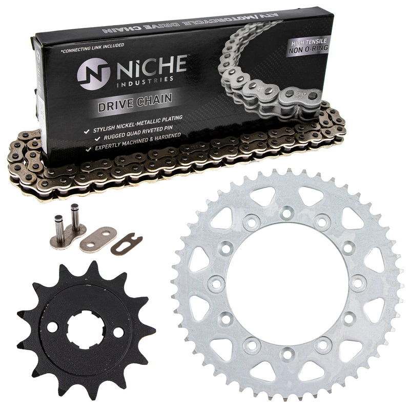 Drive Chain and Sprocket Kit for zOTHER Honda XR250R 23801-KPS-900 41201-MG3-505 NICHE MK1003709