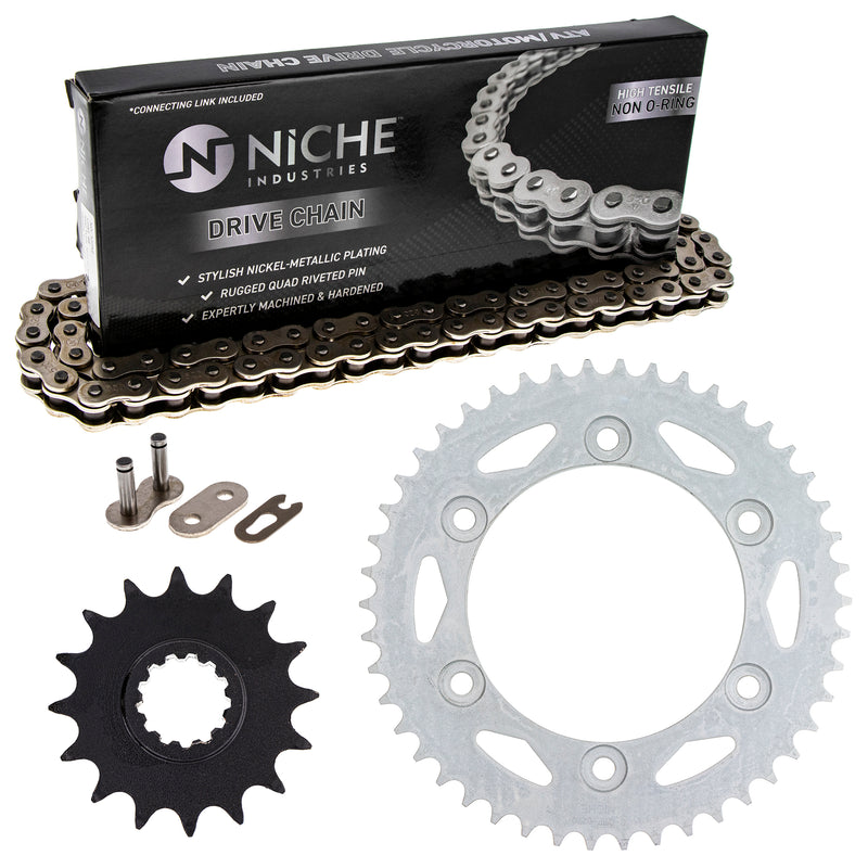 Drive Chain and Sprocket Kit for zOTHER Kawasaki Honda XR400R XR200R CBR600F4i 92057-0062 NICHE MK1003725