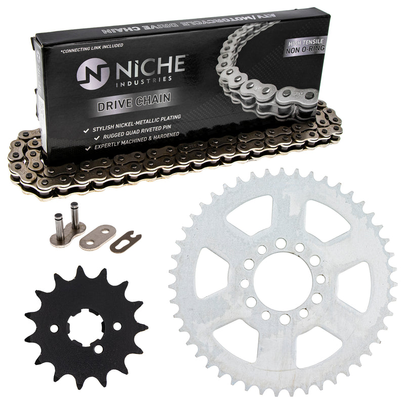 Drive Chain and Sprocket Kit for Yamaha XT250 519-KCS0202K-K001 NICHE MK1003730