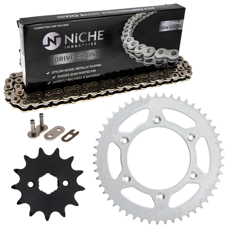 Drive Chain and Sprocket Kit for Honda 11132021353241 CR125R 40530-KCY-652 40530-KCE-506 NICHE MK1003736