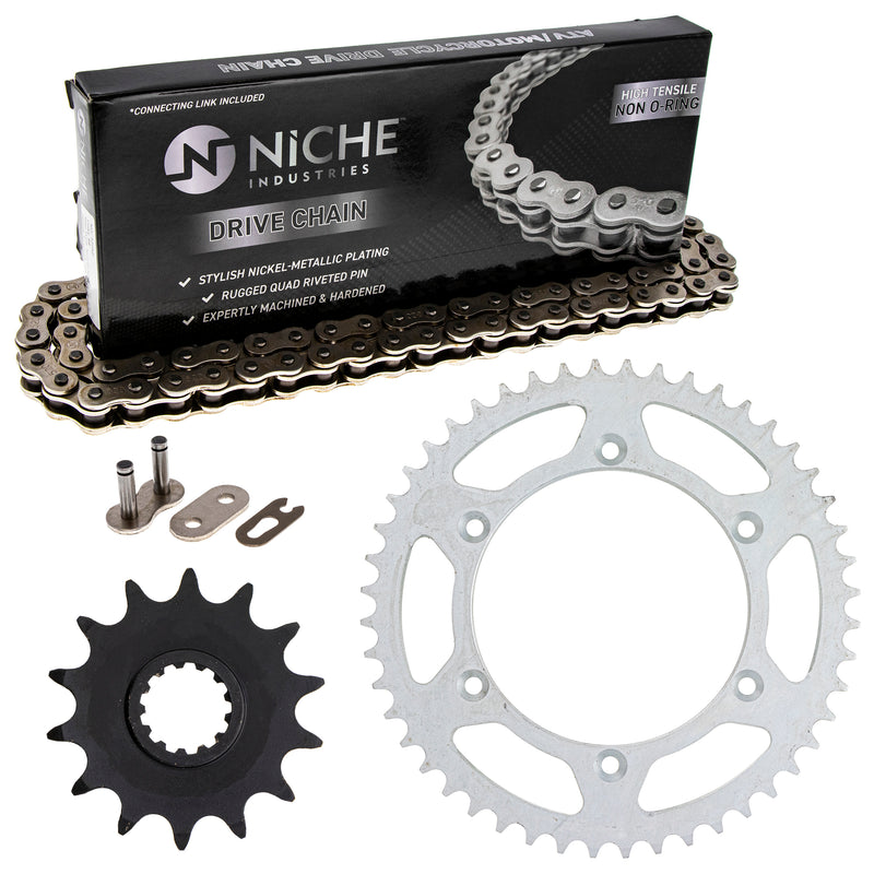 Drive Chain and Sprocket Kit for Triumph KTM Kawasaki Ninja T2017226 92057-1367 92057-0019 NICHE MK1003741