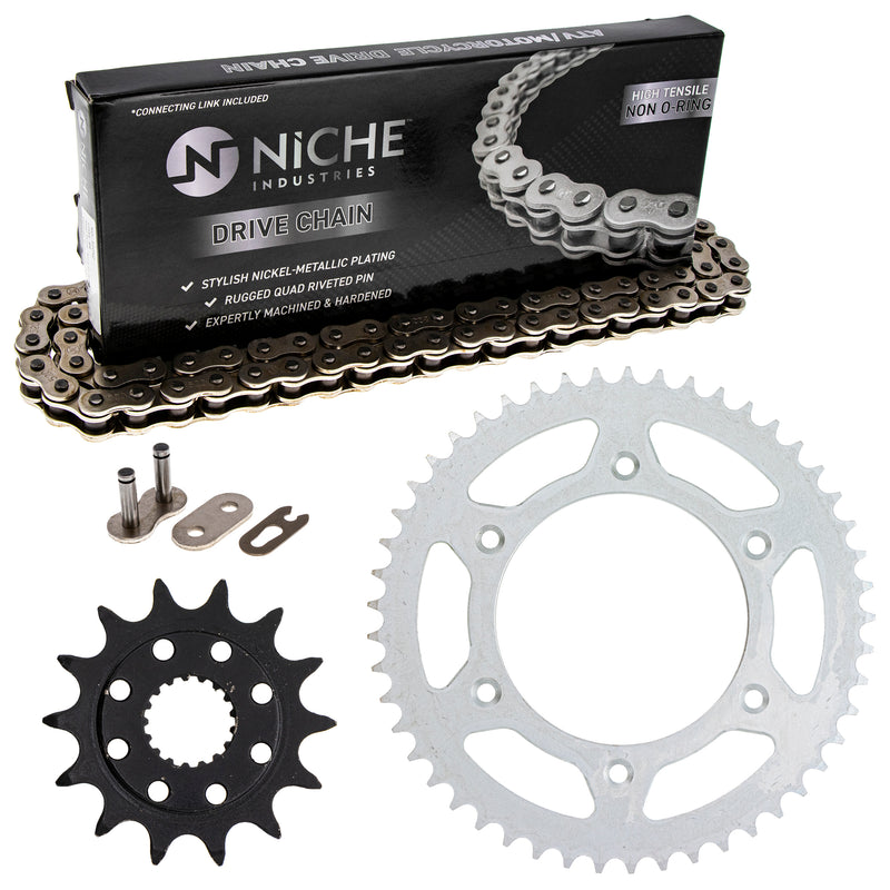 Drive Chain and Sprocket Kit for zOTHER Honda CR500R CR250R 41204-ML3-505 41201-MKE-A70 NICHE MK1003747