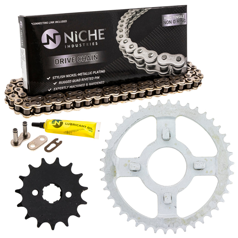 Drive Chain and Sprocket Kit for zOTHER Yamaha Suzuki Honda XR100R XL100S CRF125FB CRF100F NICHE MK1003792