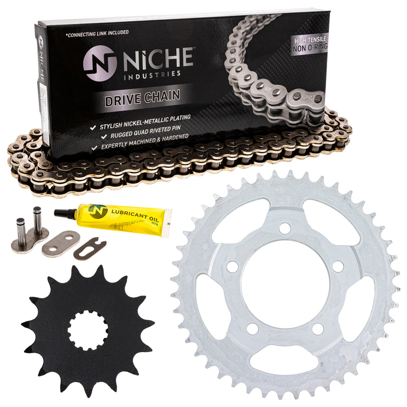 Drive Chain and Sprocket Kit for zOTHER SV650S SV650A SV650 519-KCS0274K-K001 NICHE MK1003802