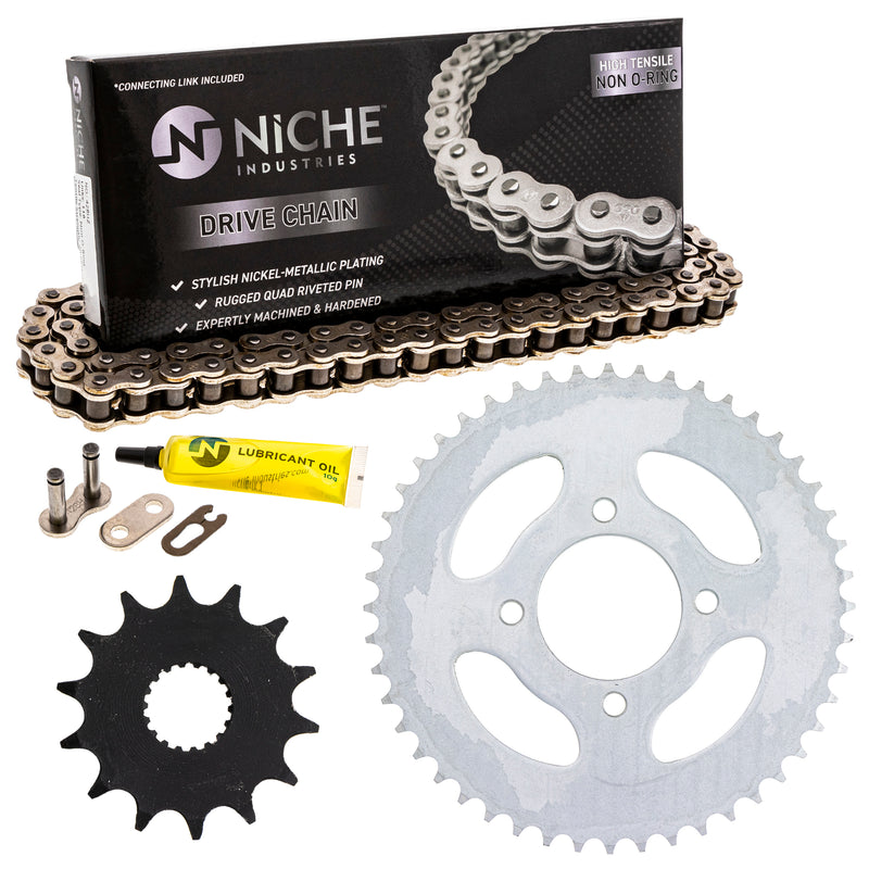 Drive Chain and Sprocket Kit for Suzuki Kawasaki 27511-13700 92057-0658 NICHE MK1003872