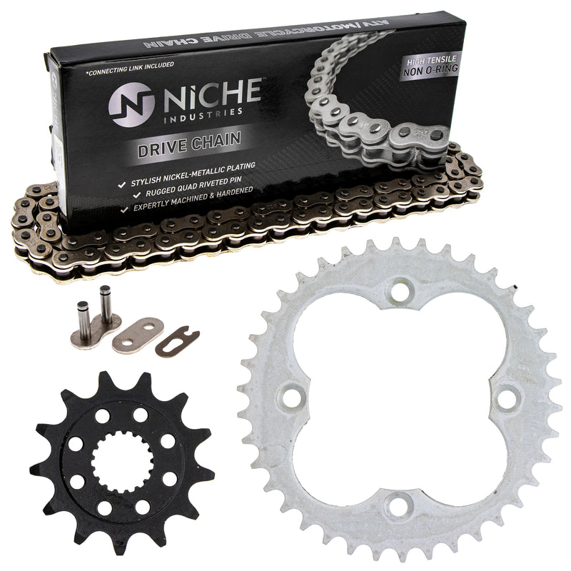 Drive Chain and Sprocket Kit for zOTHER TRX450R TRX450ER 519-KCS0379K-K001 NICHE MK1003907