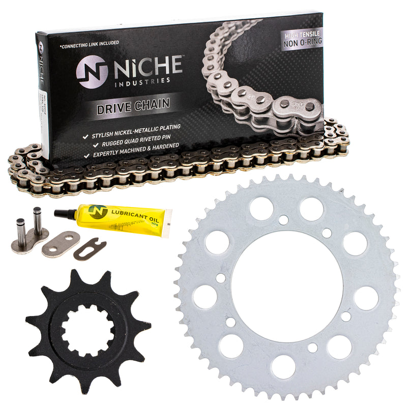 Drive Chain and Sprocket Kit for Honda CRF150RB CR80RB 40530-KSE-841 40530-GBF-811 NICHE MK1003918