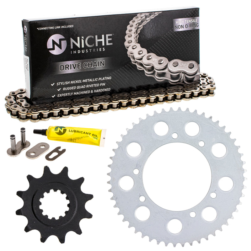 Drive Chain and Sprocket Kit for Honda 40530-KSE-841 40530-GBF-811 NICHE MK1003919