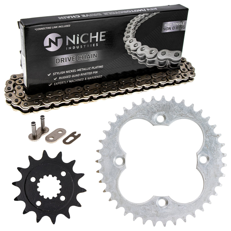 Drive Chain and Sprocket Kit for zOTHER TRX400X Sportrax 519-KCS0419K-K001 NICHE MK1003947