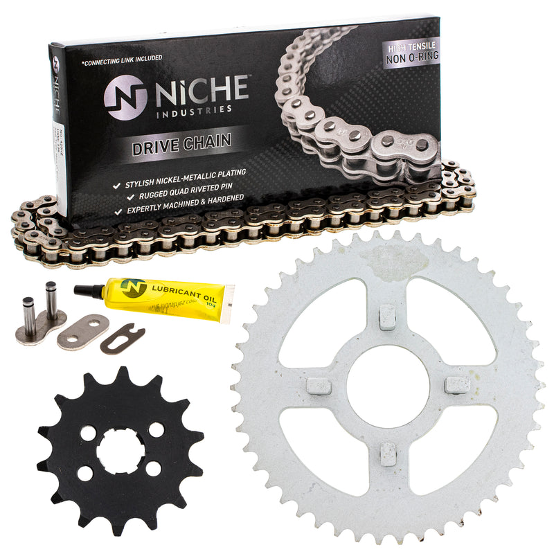 Drive Chain and Sprocket Kit for zOTHER Honda XR80 XR75 23801-178-000 41200-GEY-000 NICHE MK1004002
