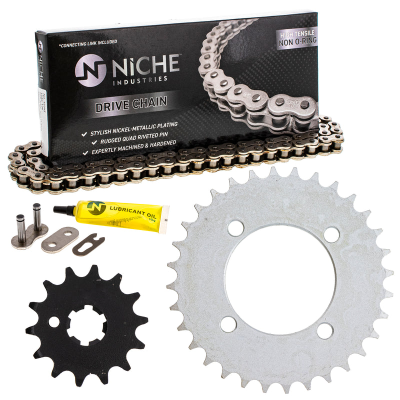 Drive Chain and Sprocket Kit for na 4BC-25432-50-00 93812-14035-00 93812-14814-00 NICHE MK1004041