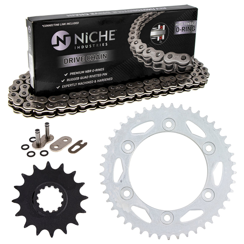 Drive Chain and Sprocket Kit for 92057-0129 92057-S018 92057-0647 92057-0191 92057-0174 NICHE MK1004105