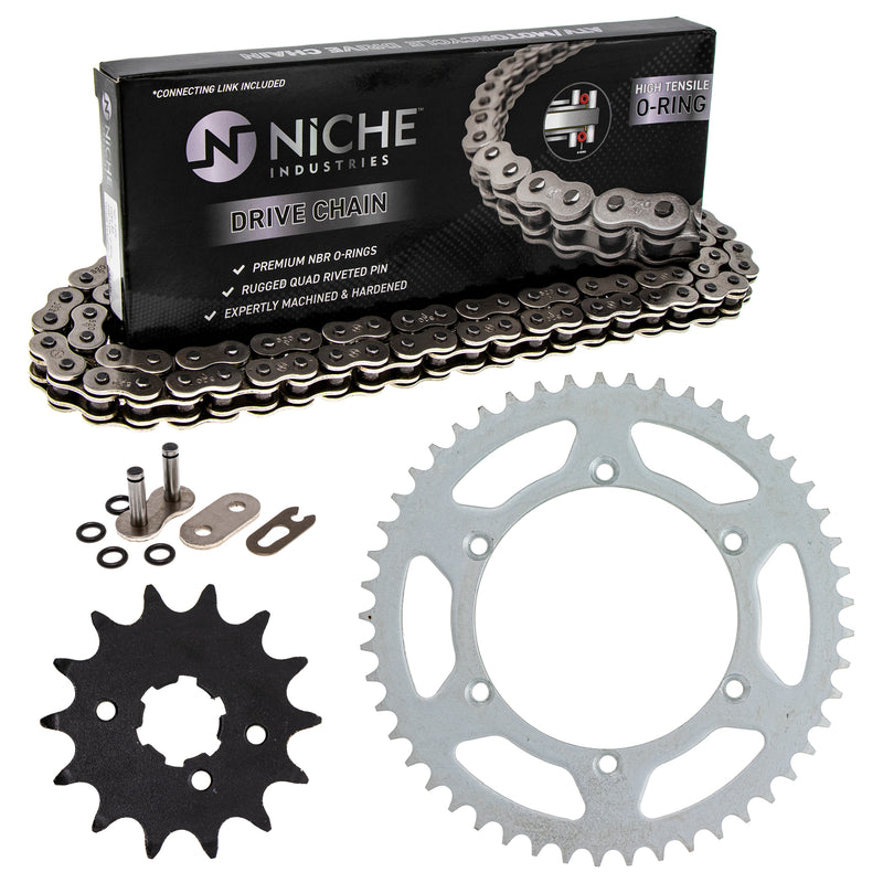 Drive Chain and Sprocket Kit for na Kawasaki KX250 42041-1104 13144-1005 42041-1384 NICHE MK1004109