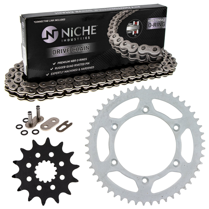 Drive Chain and Sprocket Kit for Yamaha na YZ400F YZ250 94561-62114-00 1WD-E7460-00-00 NICHE MK1004113