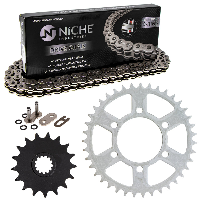 Drive Chain and Sprocket Kit for na Kawasaki Ninja 92057-0192 92057-0695 92057-0678 NICHE MK1004115