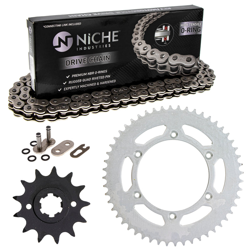 Drive Chain and Sprocket Kit for Suzuki RS250 27511-41110 64511-40430 27600-35G01-114 NICHE MK1004139