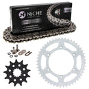 Drive Chain and Sprocket Kit for Suzuki RM250 27511-37F00 64511-37E00 64511-14D60 NICHE MK1004144