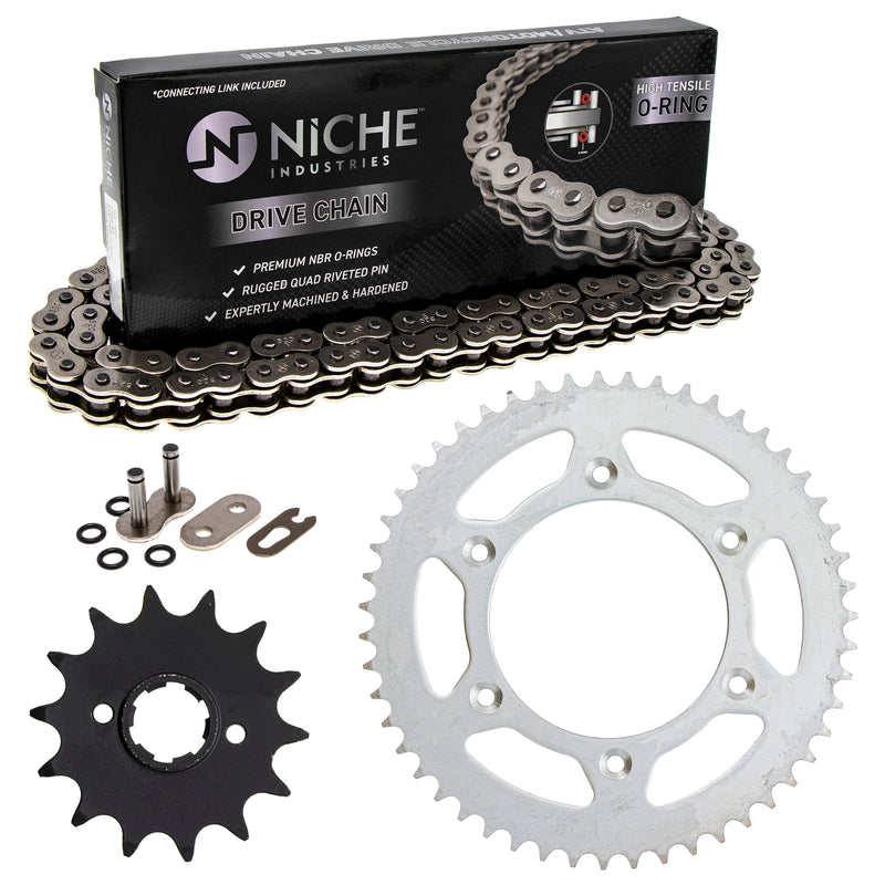 Drive Chain and Sprocket Kit for zOTHER Honda CR250R 23802-467-000 23803-430-000 NICHE MK1004150