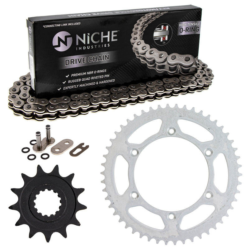 Drive Chain and Sprocket Kit for Suzuki GAS 64511-41131 27600-02J01-114 27600-02J00-114 NICHE MK1004152