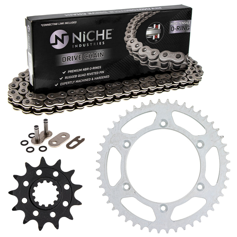 Drive Chain and Sprocket Kit for Suzuki Honda WR250 64511-41521 41201-MKE-A70 NICHE MK1004154
