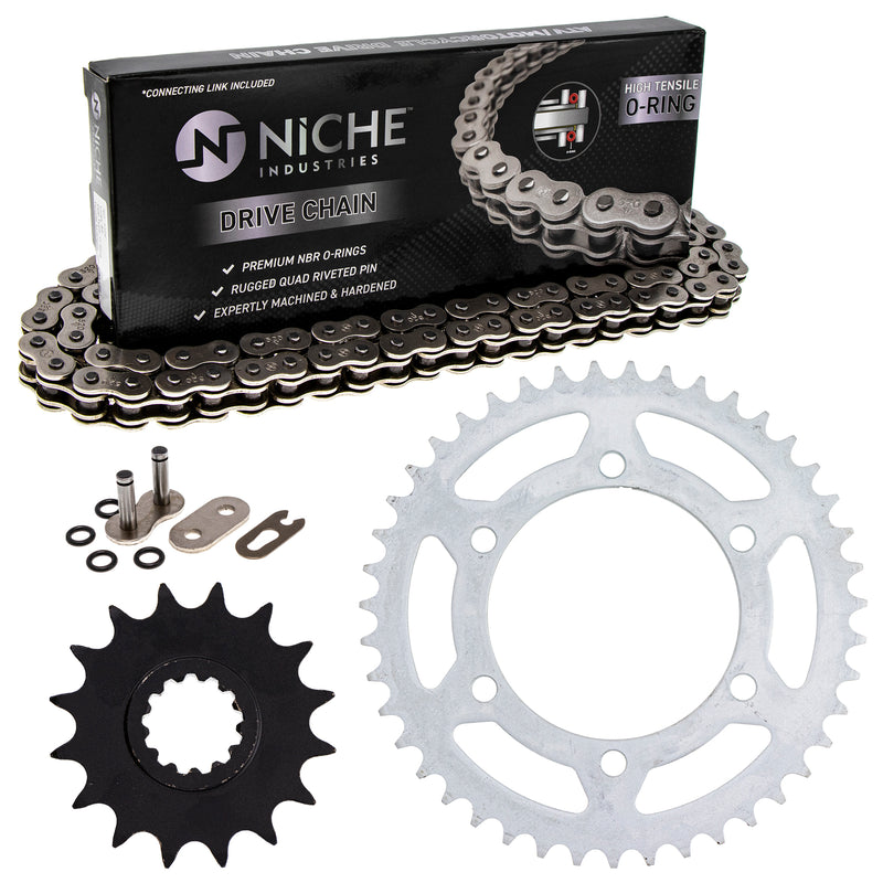Drive Chain and Sprocket Kit for Yamaha YZF 4XV-17460-00-00 94561-62114-00 NICHE MK1004158
