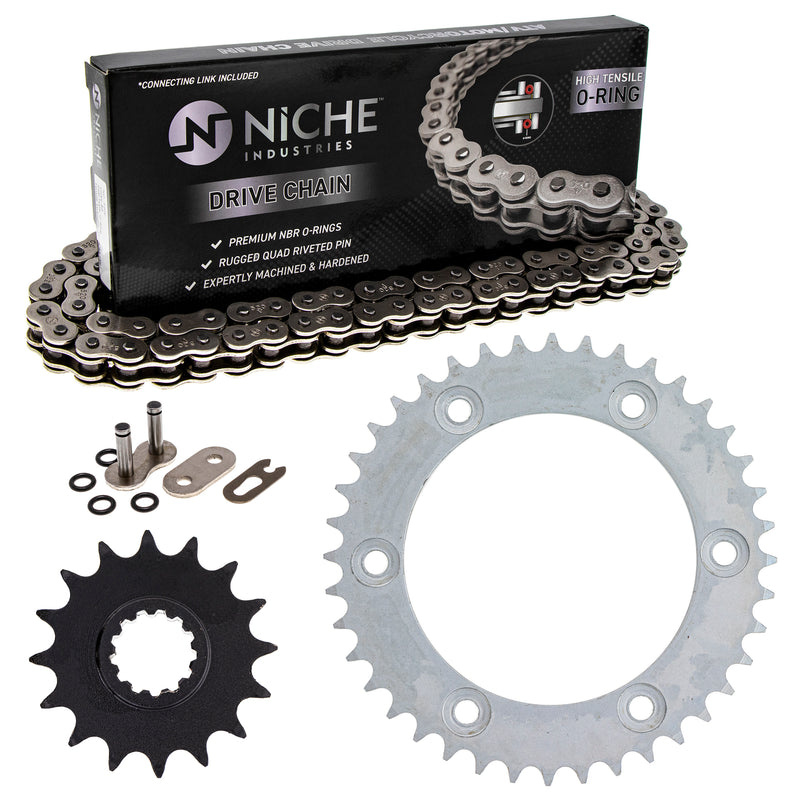 Drive Chain and Sprocket Kit for zOTHER Honda CRF450R CRF250R CR500R CR250R 40530-MKE-A92 NICHE MK1004161