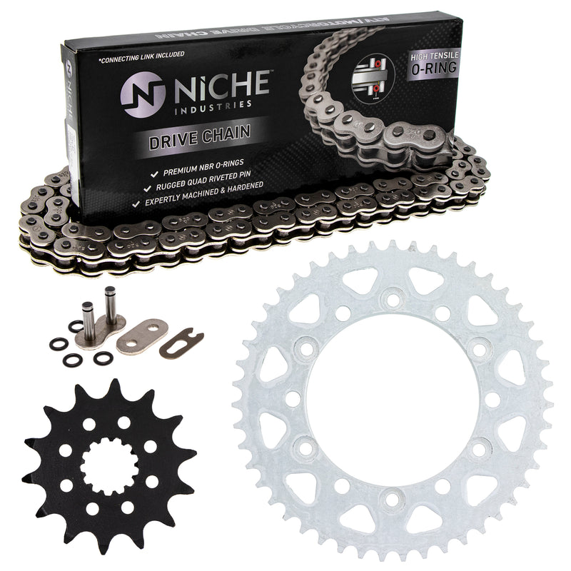 Drive Chain and Sprocket Kit for Yamaha 9Y581-38109-00 94561-62110-00 4JH-25447-00-00 NICHE MK1004166