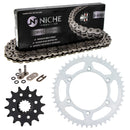Drive Chain and Sprocket Kit for Suzuki na DR350 94561-62110-00 64511-29F00 NICHE MK1004178