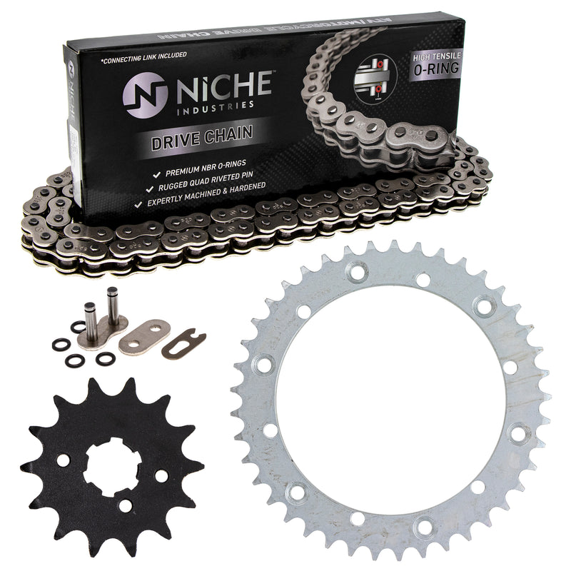 Drive Chain and Sprocket Kit for Yamaha Kawasaki Banshee 9Y581-87103-00 93834-14050-00 NICHE MK1004216
