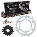 Drive Chain and Sprocket Kit for na Kawasaki Ninja 13144-1085 92057-1472 92057-0048 NICHE MK1004221