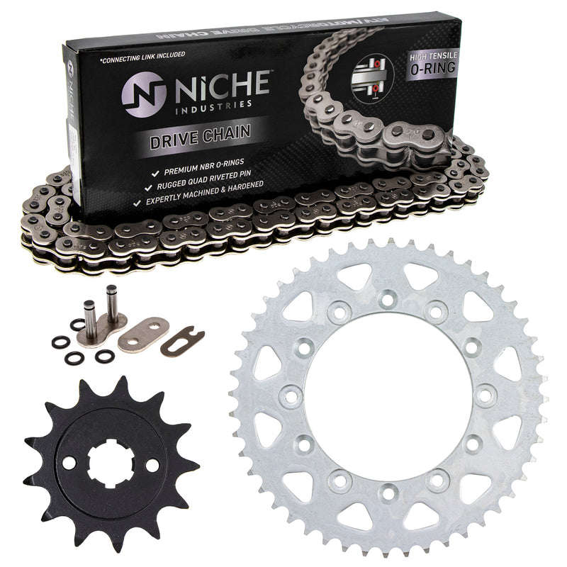 Drive Chain and Sprocket Kit for zOTHER Honda XR200R 41201-MG3-505 40530-KYJ-902 NICHE MK1004233