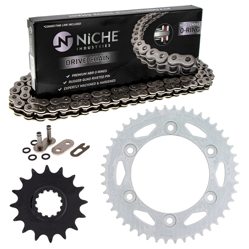 Drive Chain and Sprocket Kit for zOTHER Kawasaki Honda XR400R XR200R CBR600F4i 92057-0062 NICHE MK1004250