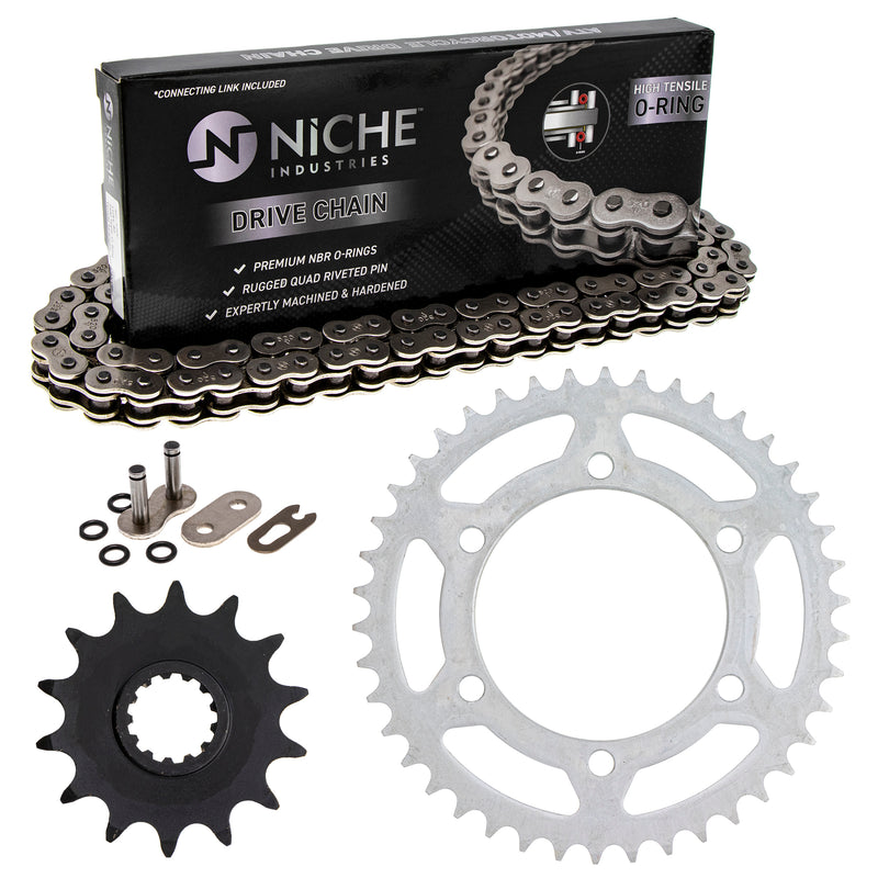 Drive Chain and Sprocket Kit for Triumph KTM Kawasaki Ninja T2017226 92057-1367 92057-0019 NICHE MK1004266