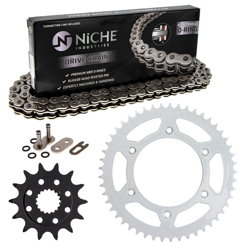 Drive Chain and Sprocket Kit for zOTHER Honda CR500R CR250R 41204-ML3-505 41201-MKE-A70 NICHE MK1004272